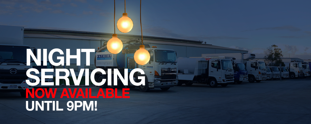 Night Servicing at Sci-Fleet Hino